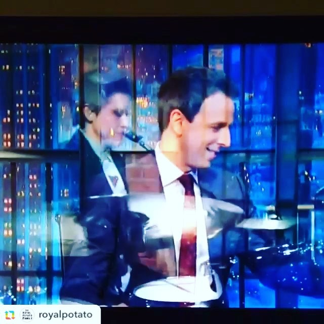 Good times! Guesting with the 8G band on @latenightseth this week.