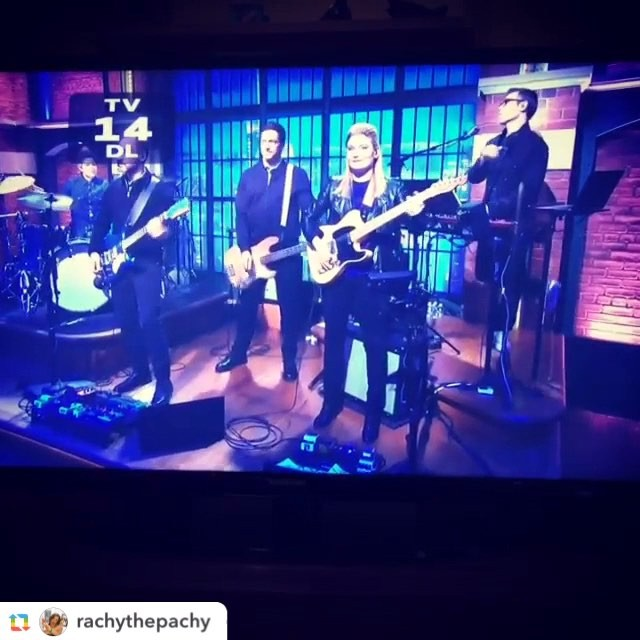 Thanks to Seth Meyers, the 8G band, and all the staff at #LNSM. I'm having a great time!  And thanks for the shout out! @latenightseth  #drummersarecomposerstoo