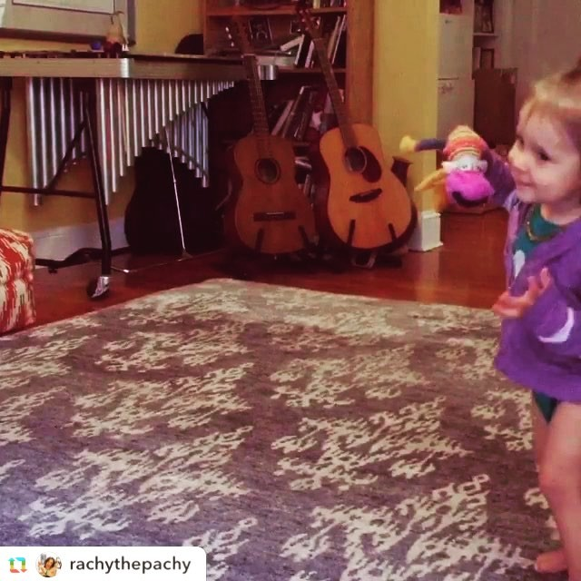 The ultimate seal of approval! My baby dancing to my baby! Otis was a Polar Bear #boomticboom #royalpotatofamily @rachythepachy