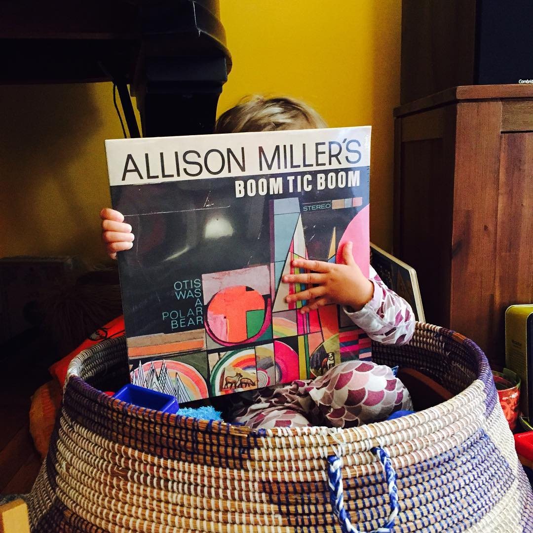 Cuddle up in your basket and get  cozy with my new album, #otiswasapolarbear #royalpotatofamily http://royalpotatofamily.com/product/allison-millers-boom-tic-boom-otis-was-a-polar-bear/