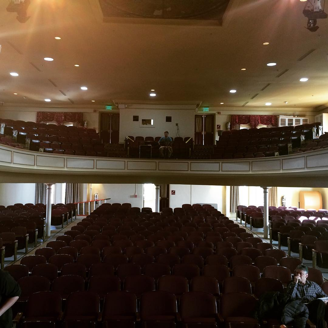 Tonight's venue.  Gorgeous.  #bloomsburguniversity #carverhall #boomticboom