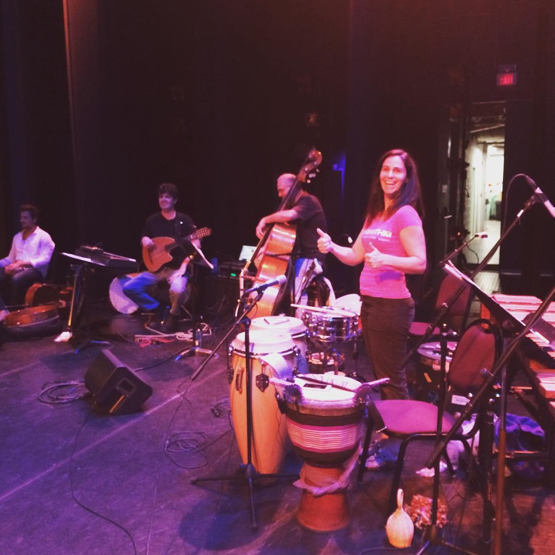 Getting ready for tonight's concert!  Just about sold out in Asheville.  #ashevillepercussionfestival