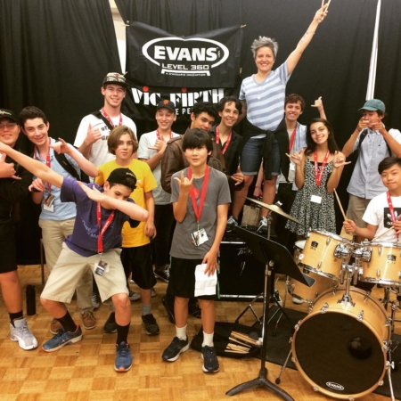 Diddle diddle!  I had such a great week working with the incredible students at SJW. #stanfordjazzworkshop #evansdrumheads #vicfirthsticks #zildjiancymbals #yamahadrums